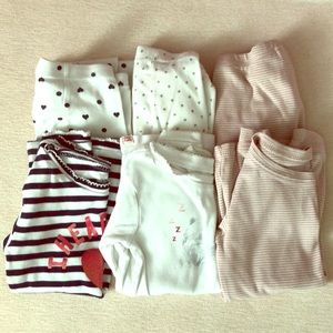 GAP girl size 5 PJ sets